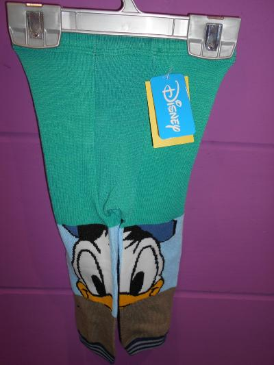 BABY TODDLER BOYS DONALD DUCK LEGGINGS (0-12 MONTHS)